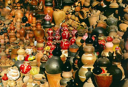Indian Pottery Terracotta Pot And Papier Mache Famous