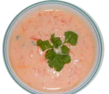 Carrot Cucumber Raita Recipe — Dishmaps