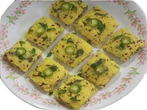 GRILLED DHOKLA