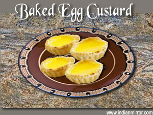 how to make egg custard in microwave
