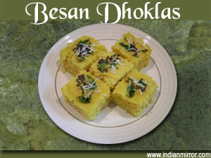 Besan dhoklas a microwave recipe 2 tbsp forumfinder Image collections