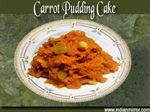 Carrot Pudding Cake A Microwave Recipe