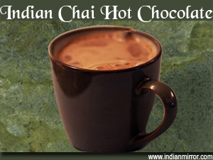 Indian chai hot chocolate a microwave recipe