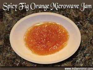 Spicy Fig Orange Microwave Jam