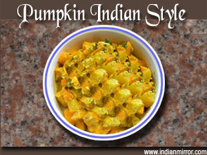 Pumpkin indian style a microwave recipe pumpkin indian style forumfinder Images