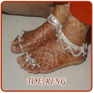 Silver Toe Rings Designs India