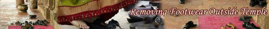 Remove Footwear Outside Temple