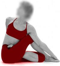 spinal twist ardha matsyendrasana yoga pose