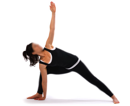 the triangle posture trikona asana yoga posture