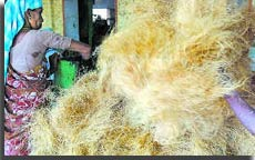 Women working in coir industry