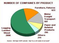 Number of companies by product