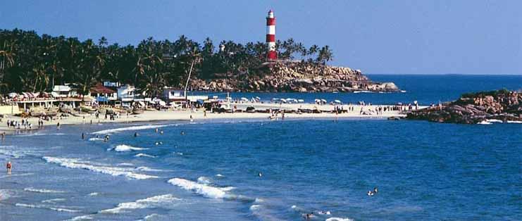 Light Blue Rock Kovalam Beach - Trivandrum - Kerala beaches - South India ...